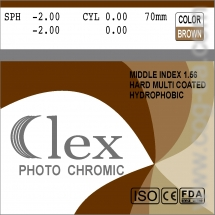 007. Линза Mid index 1,56 HMC EMI WR UV400    Photochromic (Brown; Grey) Clex