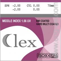 005. Линза  Mid index 1,56 HMC EMI WR UV400 Clex